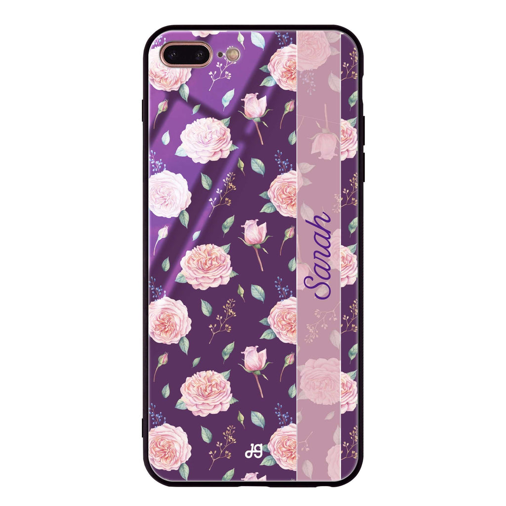 Naughty Purple iPhone 7 Plus Glass Case