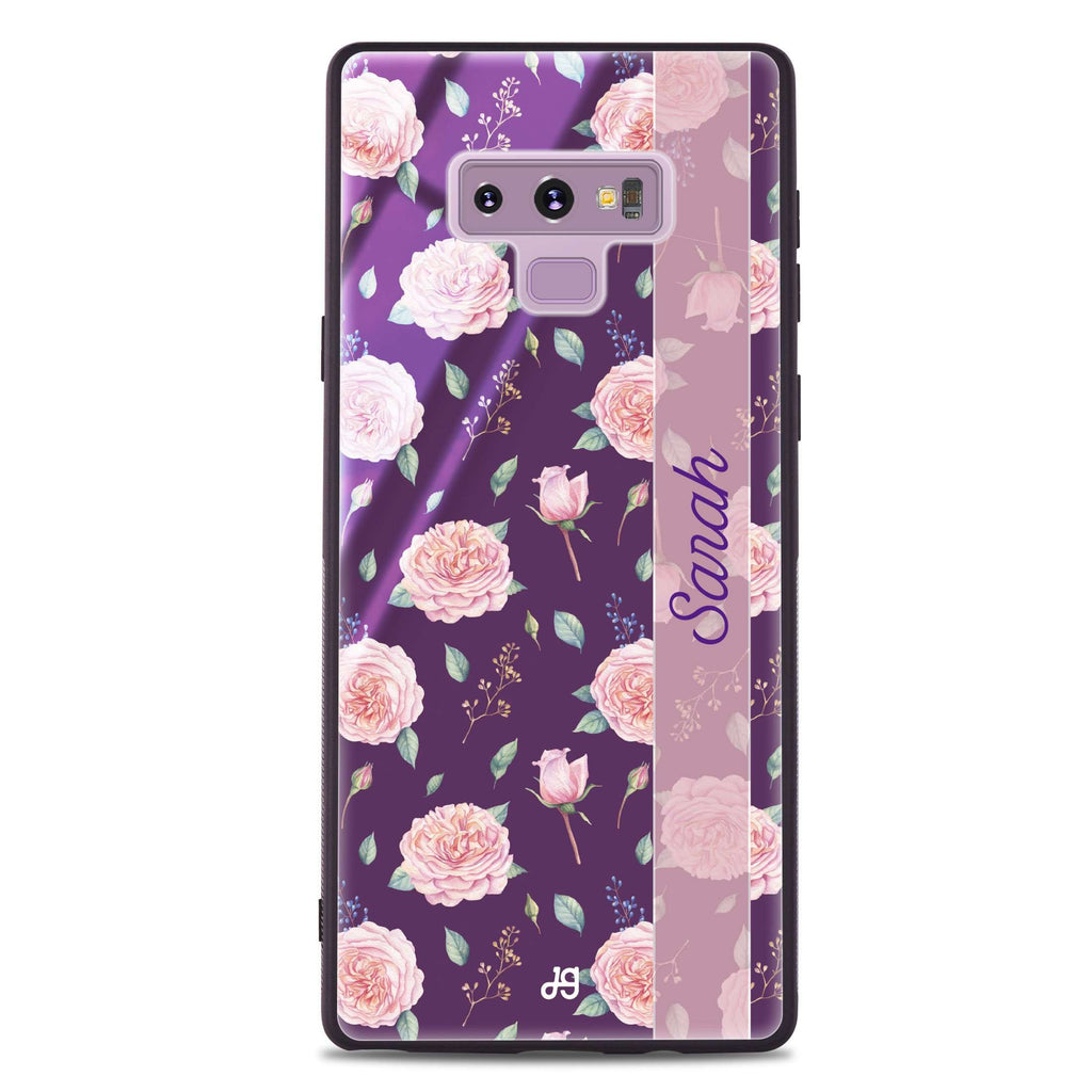 Naughty Purple Samsung Note 9 Glass Case