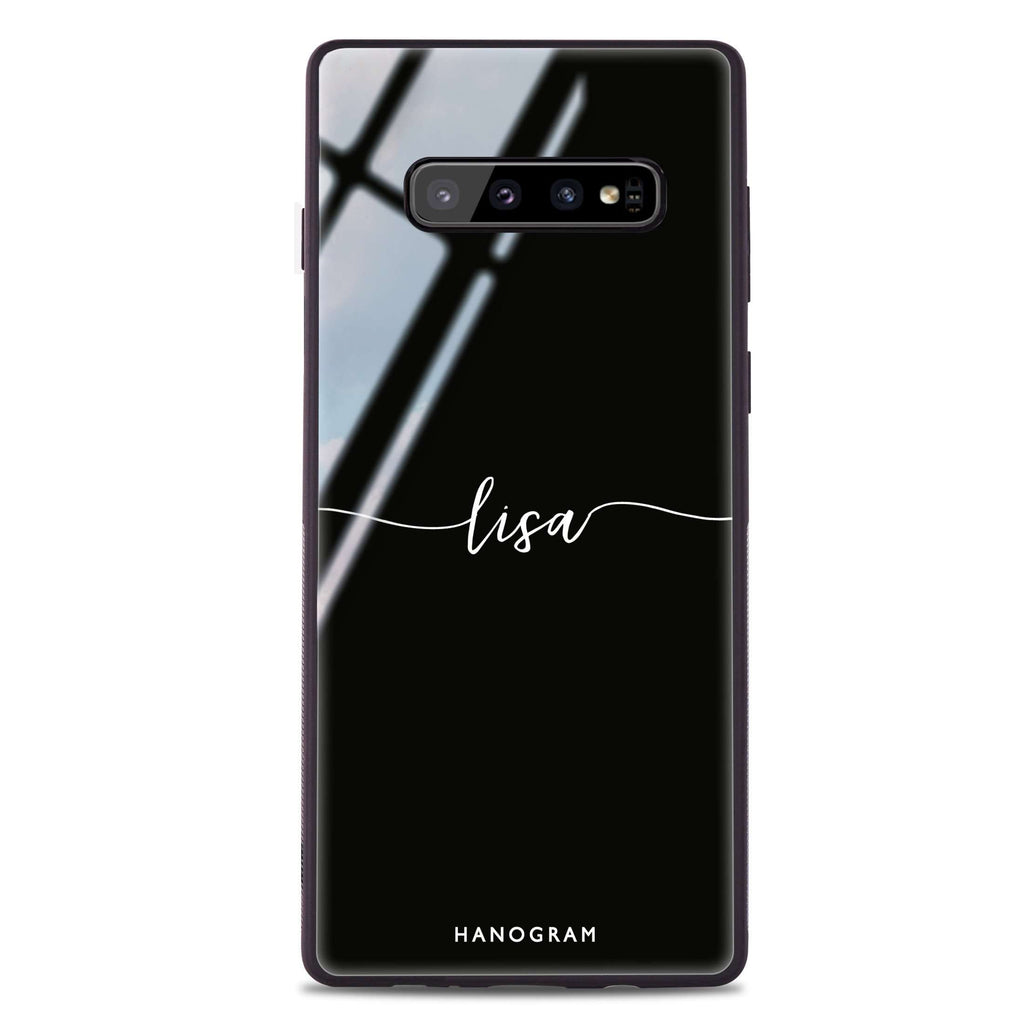 Slim Handwritten Samsung S10 Plus Glass Case