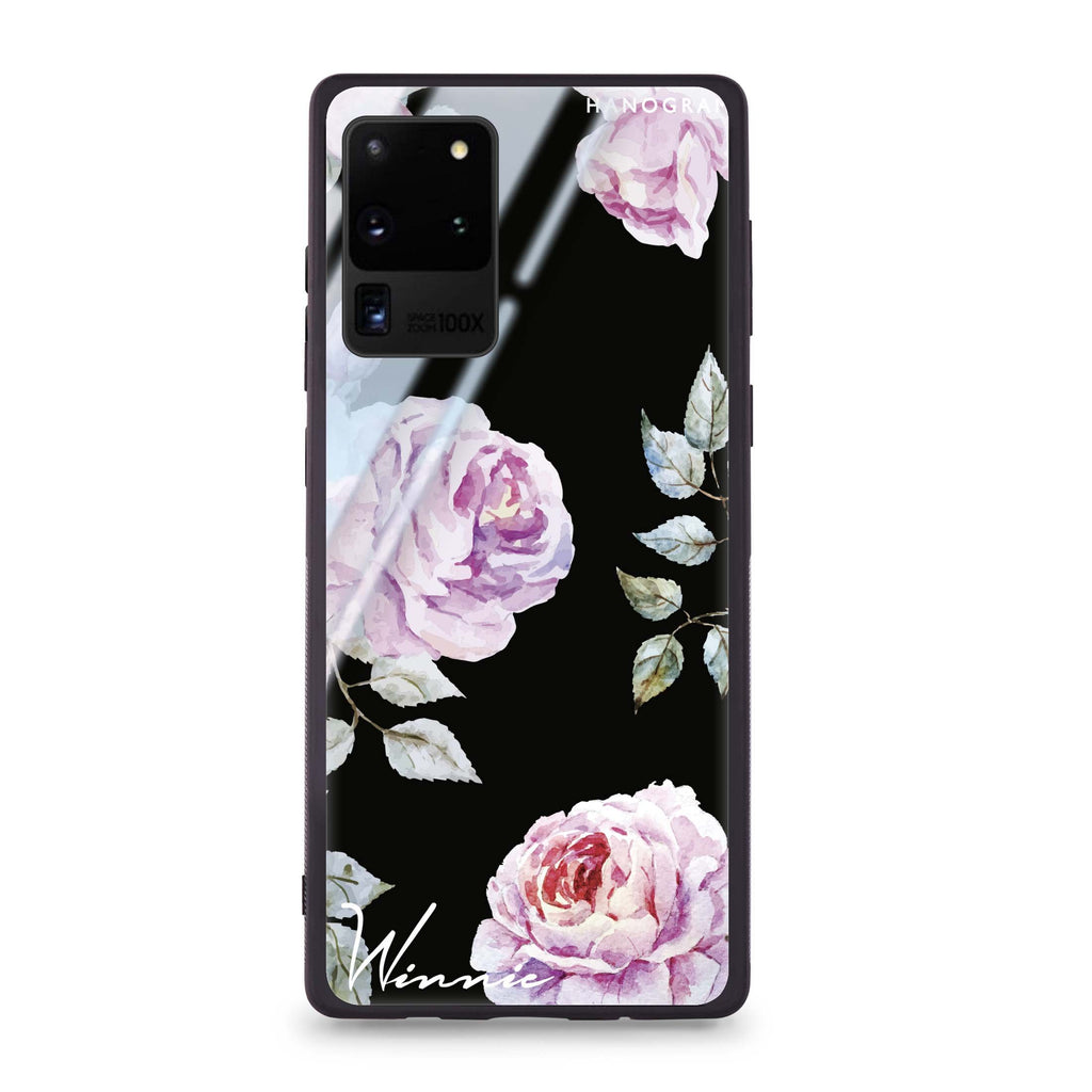 Classic Floral Samsung Glass Case