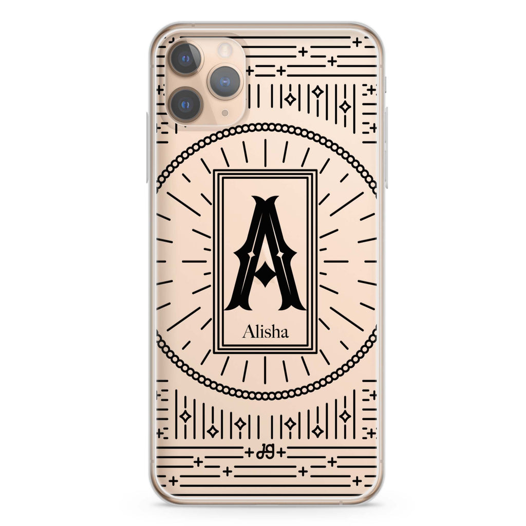 Artistic Monogram II iPhone 11 Pro Max Soft Clear Case