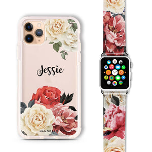 Vintage Floral - Frosted Bumper Case and Watch Band