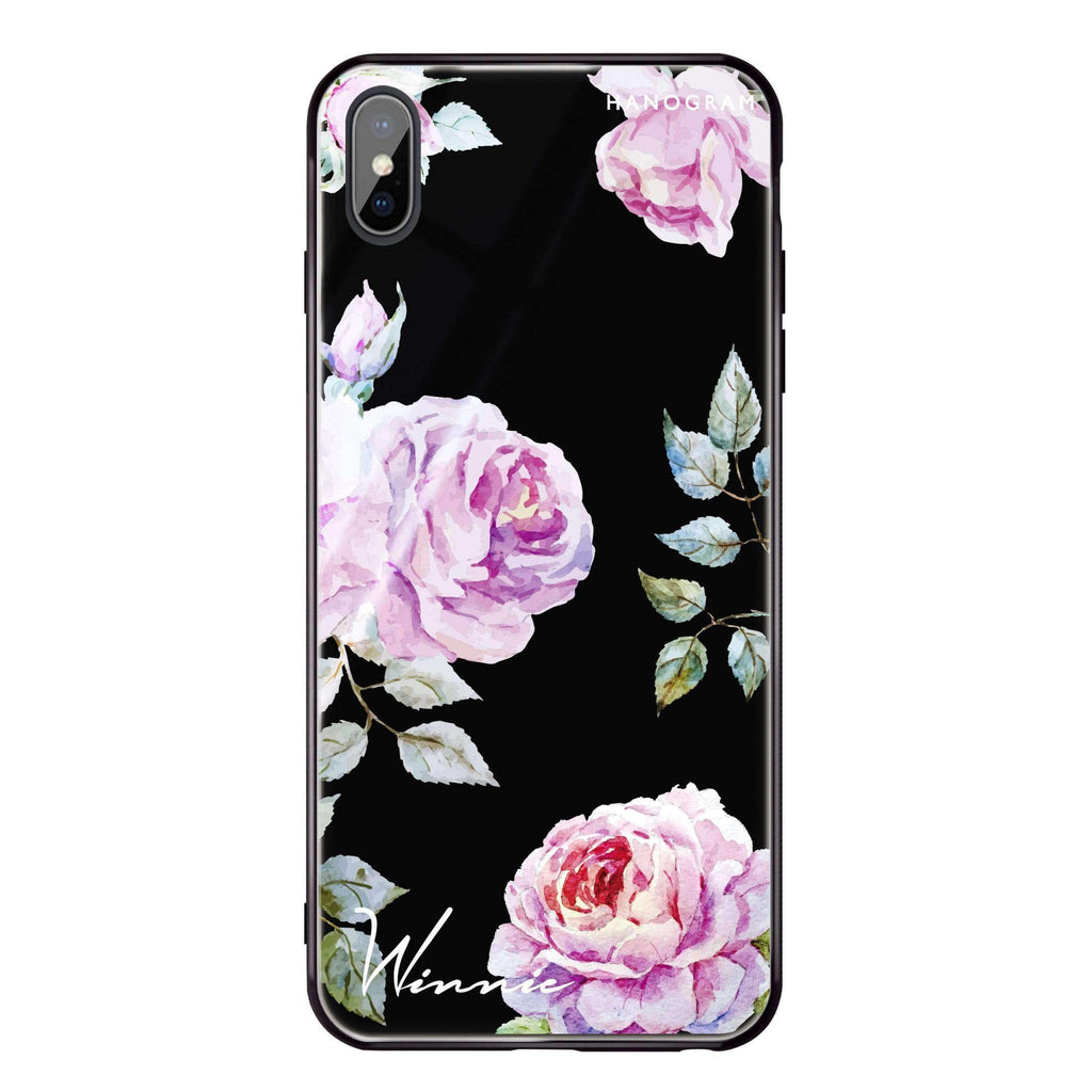 Classic Floral iPhone XS Max Glass Case