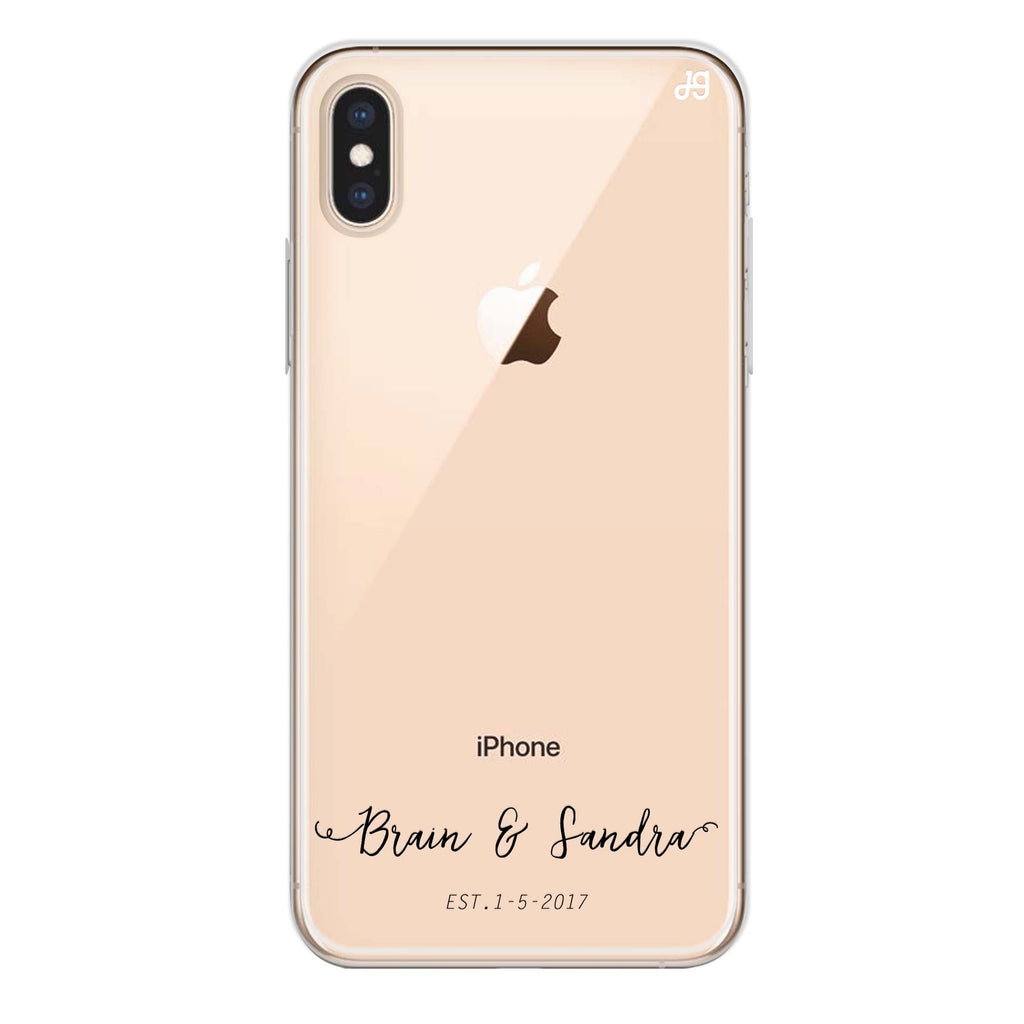 You & Me & Our Date iPhone XS Max Soft Clear Case