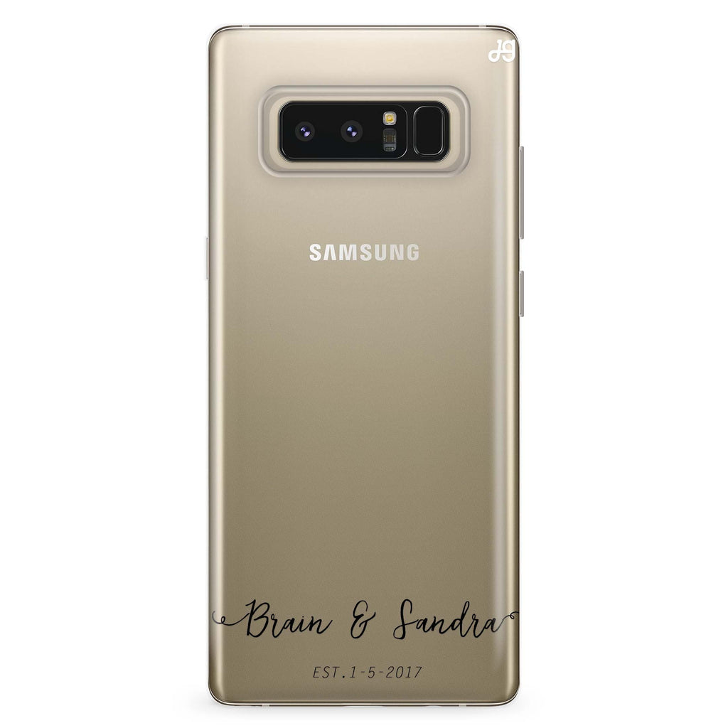 You & Me & Our Date Samsung Note 8 Soft Clear Case