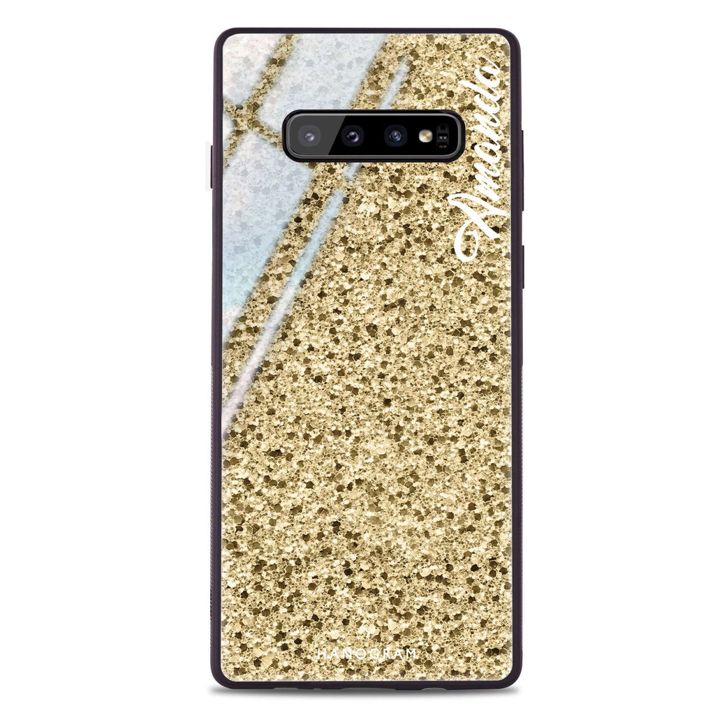 Golden Moment Samsung S10 Plus Glass Case