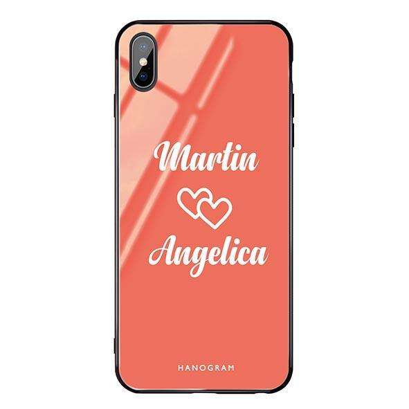 I Love You Living Coral Glass Case