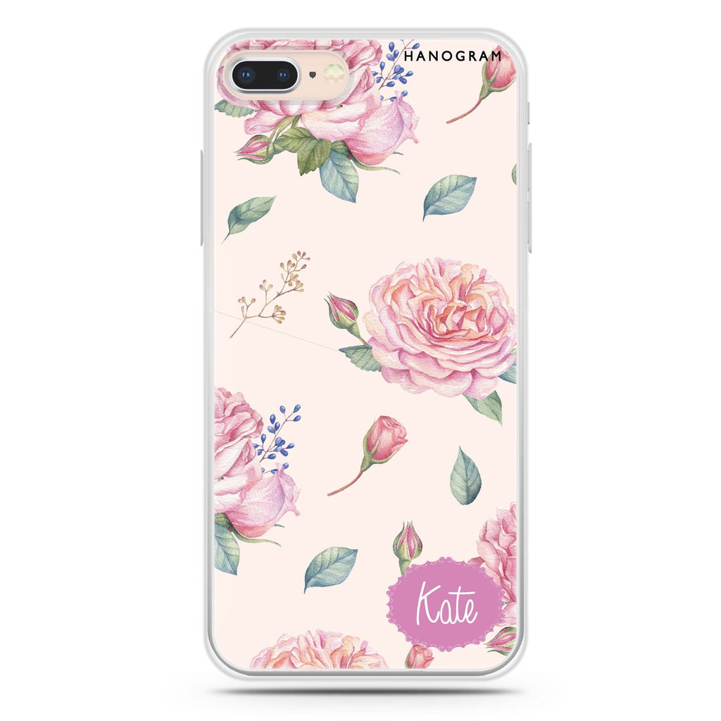 Pinky Flowers iPhone 8 Soft Clear Case