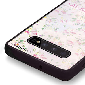 Floral Rain Samsung S10 Plus Glass Case