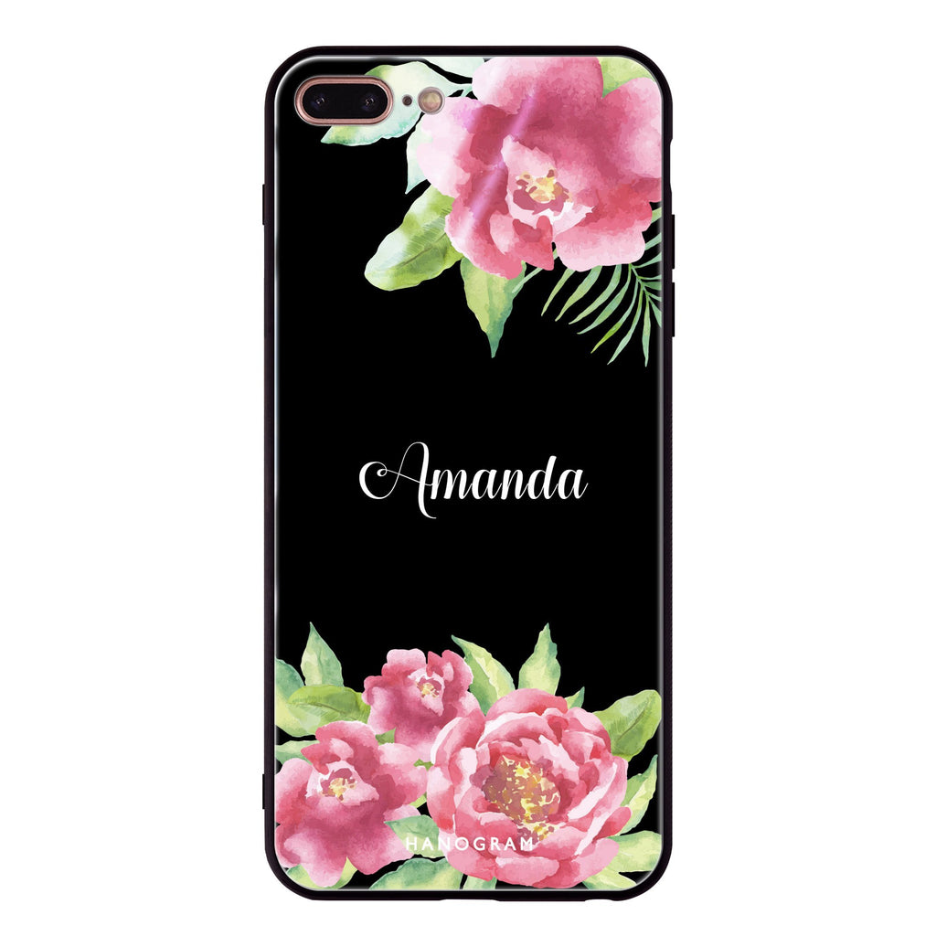 Watercolor Paeonia iPhone 7 Plus Glass Case
