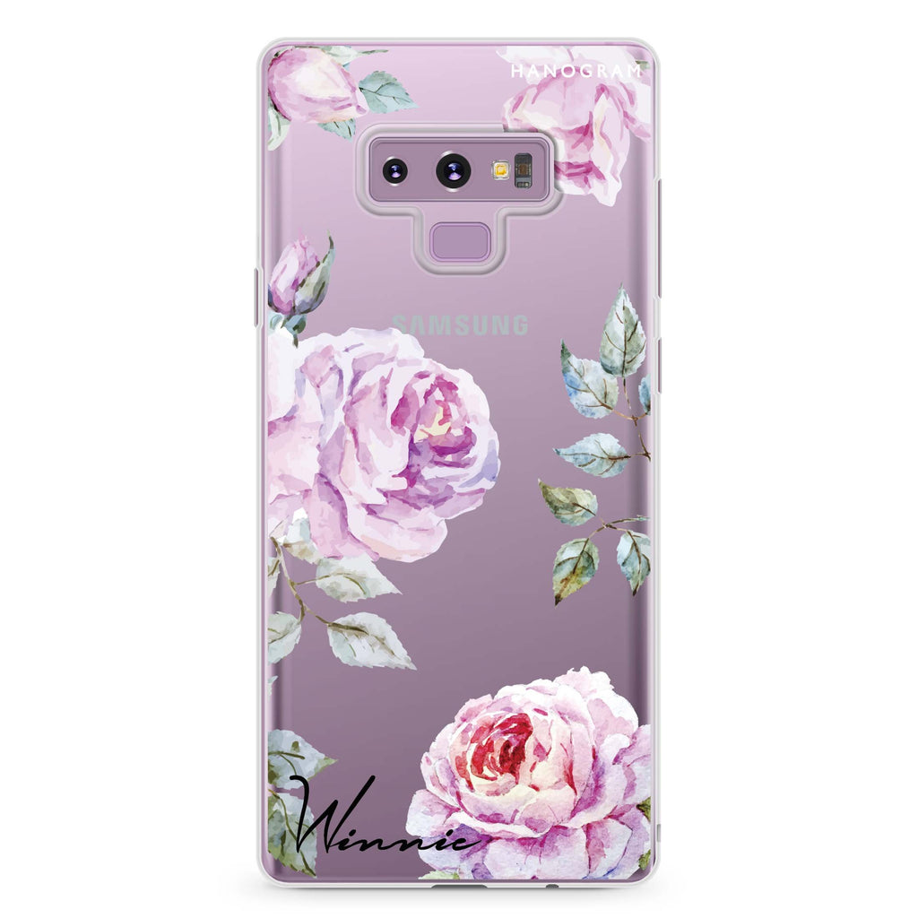 Classic Floral Samsung Note 9 Soft Clear Case