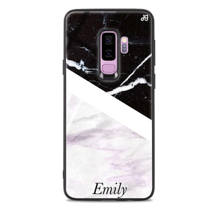 Black & White Marble Samsung S9 Plus Glass Case