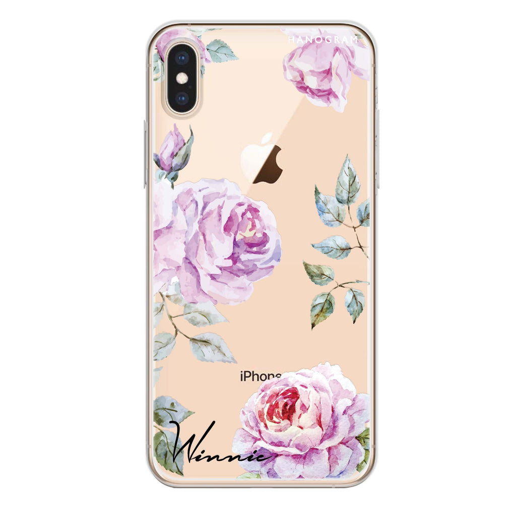 Classic Floral iPhone XS Soft Clear Case