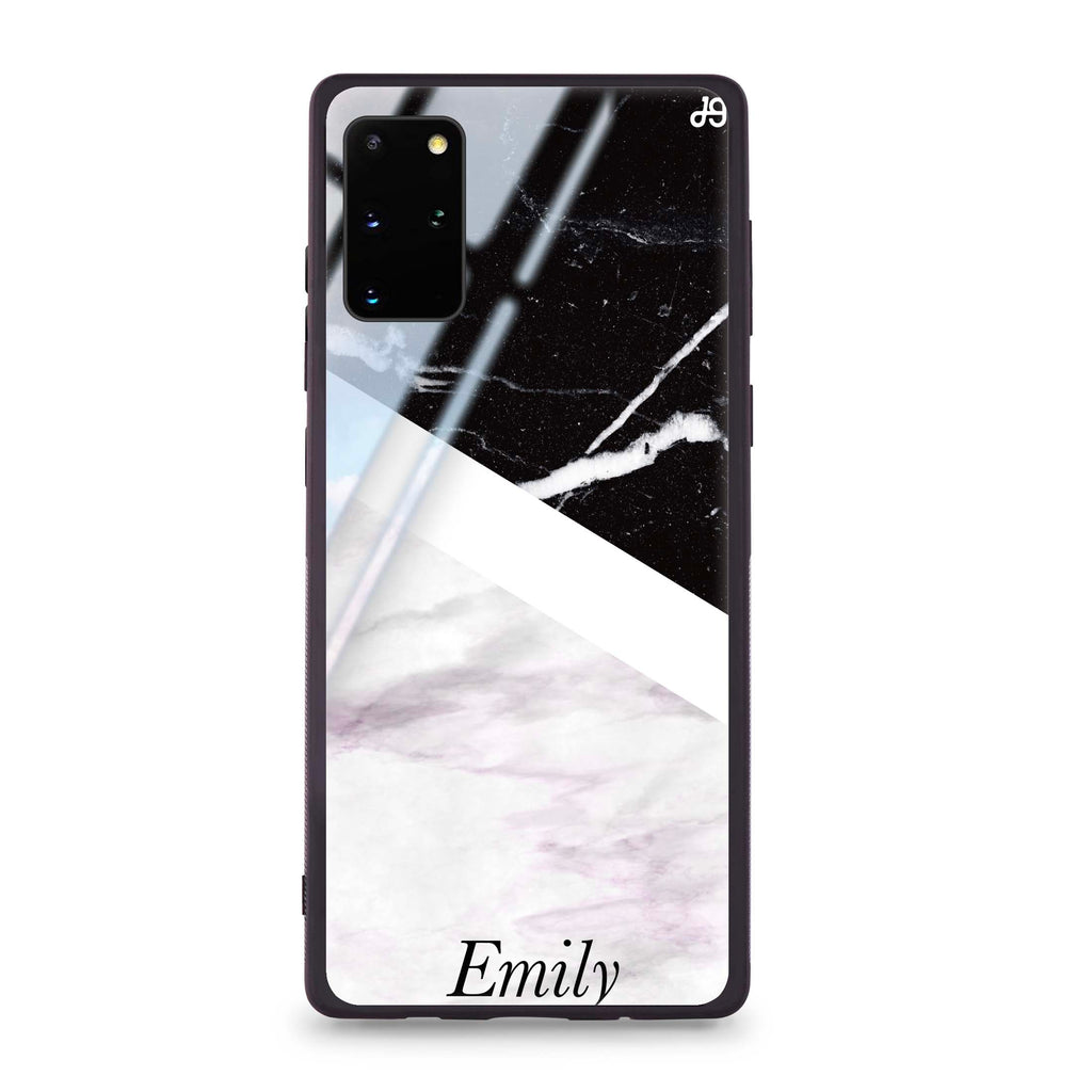 Black & White Marble Samsung S20 Plus Glass Case