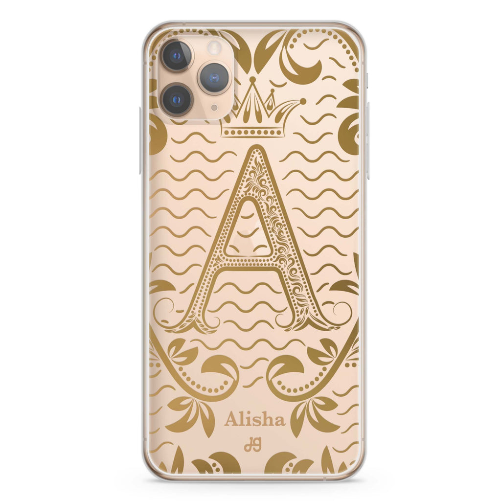 Royal Vintage Monogram iPhone 11 Pro Max Soft Clear Case