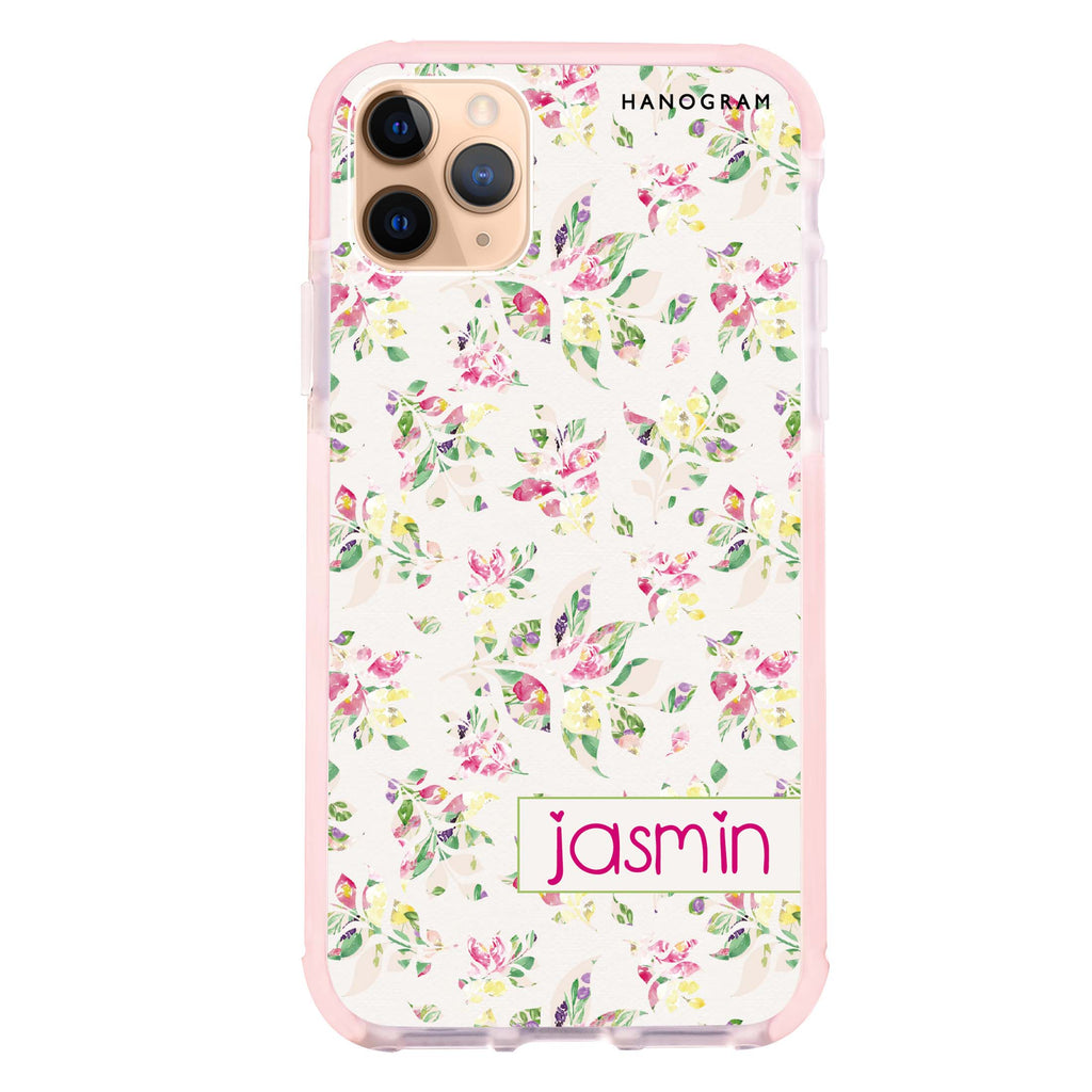 Floral Rain iPhone 11 Pro Max Shockproof Bumper Case