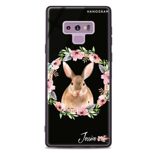 Floral Rabbit Samsung Note 9 Glass Case