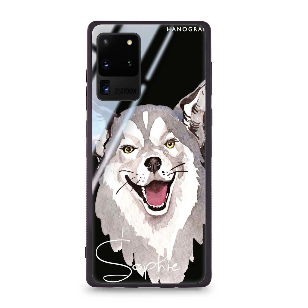 Border Collie Samsung S20 Ultra Glass Case
