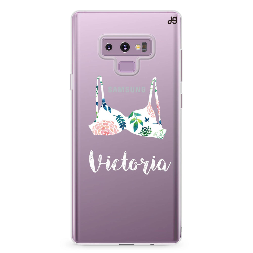 Floral Bra Samsung Note 9 Soft Clear Case