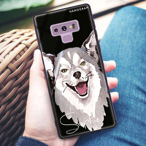 Border Collie Samsung Note 9 Glass Case
