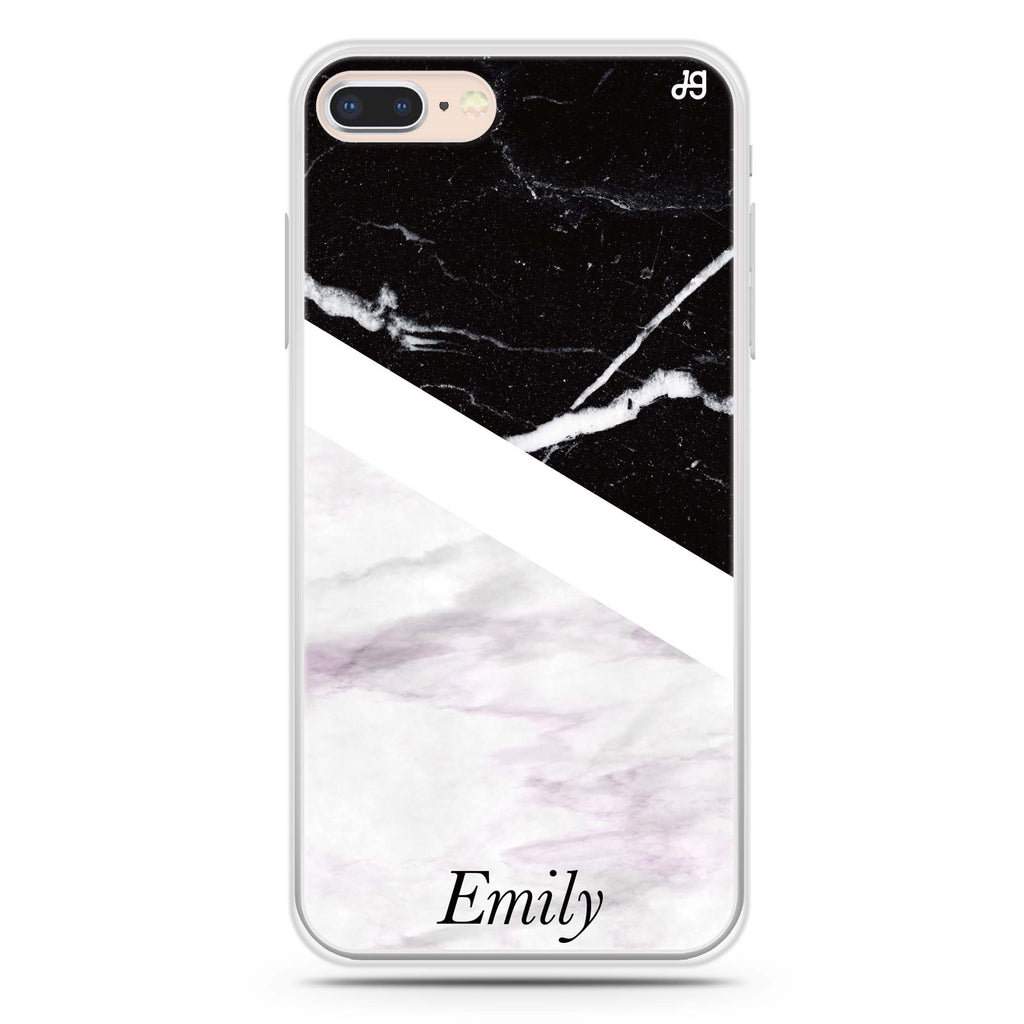Black & White Marble iPhone 7 Plus Soft Clear Case