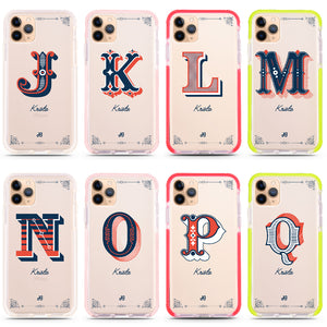 Vintage Ornamental Monogram iPhone 11 Pro Max Shockproof Bumper Case
