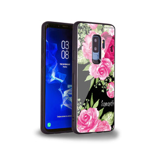 Watercolor Rose Samsung S9 Plus Glass Case