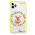 Floral Rabbit Frosted Bumper Case