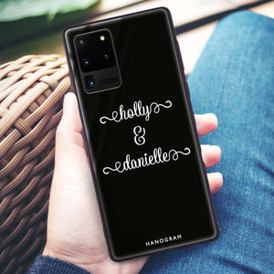 Our Cursive Handwritten Samsung Glass Case