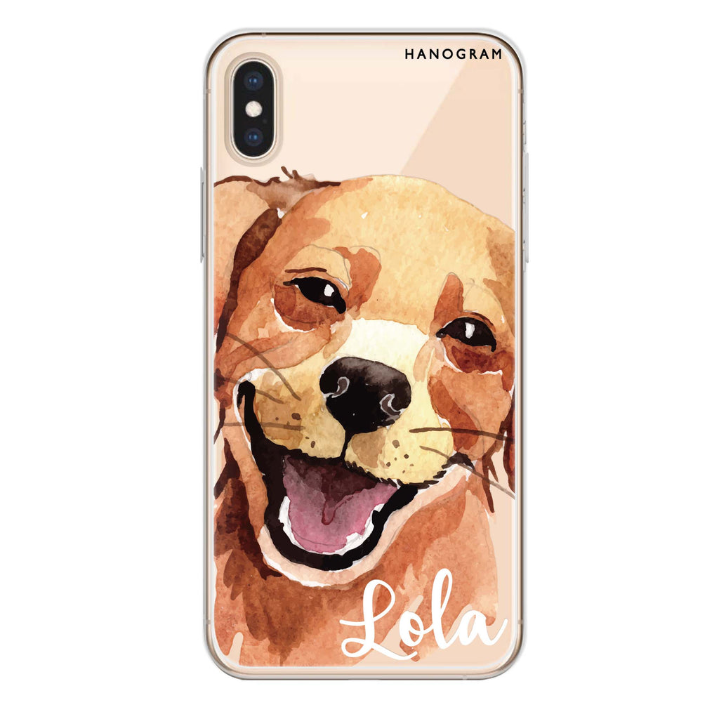 Golden Retriever iPhone XS Max Soft Clear Case