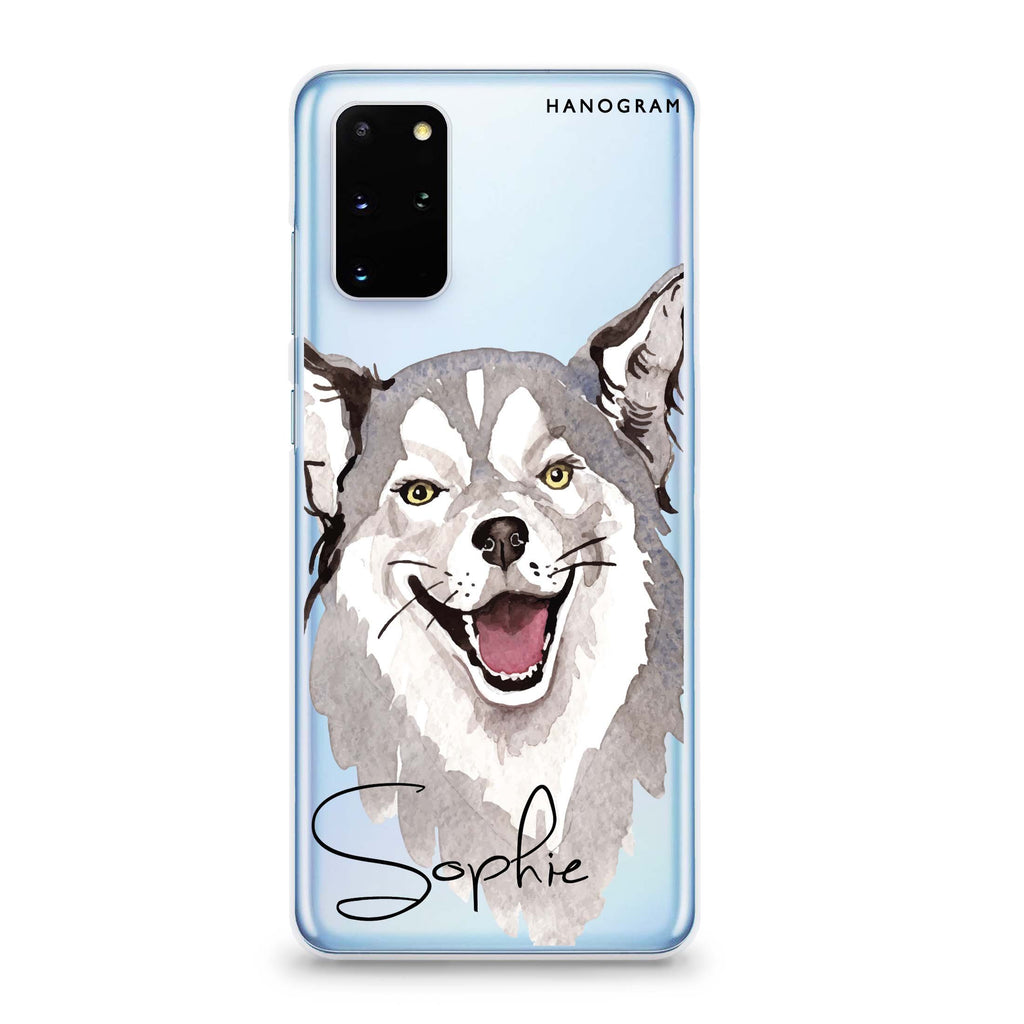 Border Collie Samsung S20 Soft Clear Case