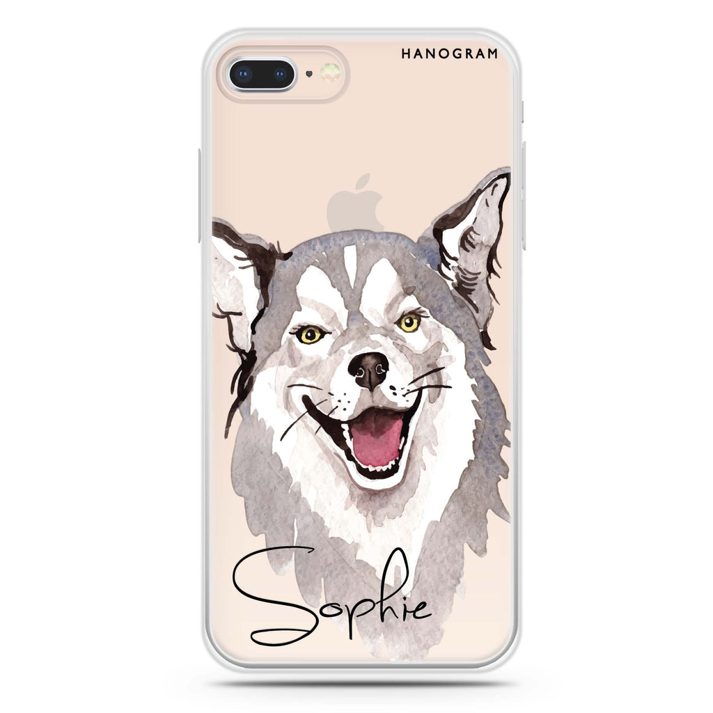 Border Collie iPhone 8 Soft Clear Case