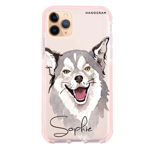 Border Collie Frosted Bumper Case