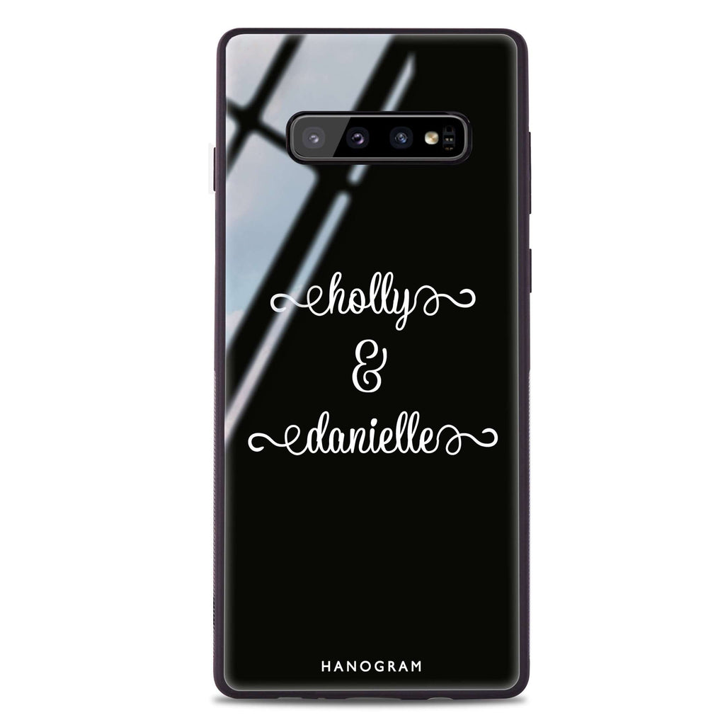 Our Cursive Handwritten Samsung S10 Plus Glass Case