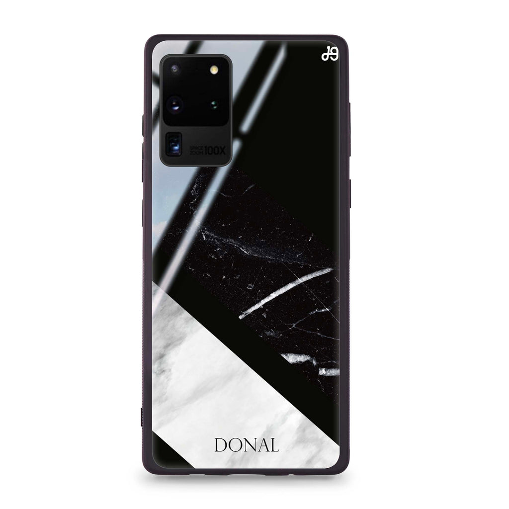 B & W Marble Samsung S20 Ultra Glass Case