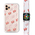 Double Heart - Frosted Bumper Case and Watch Band