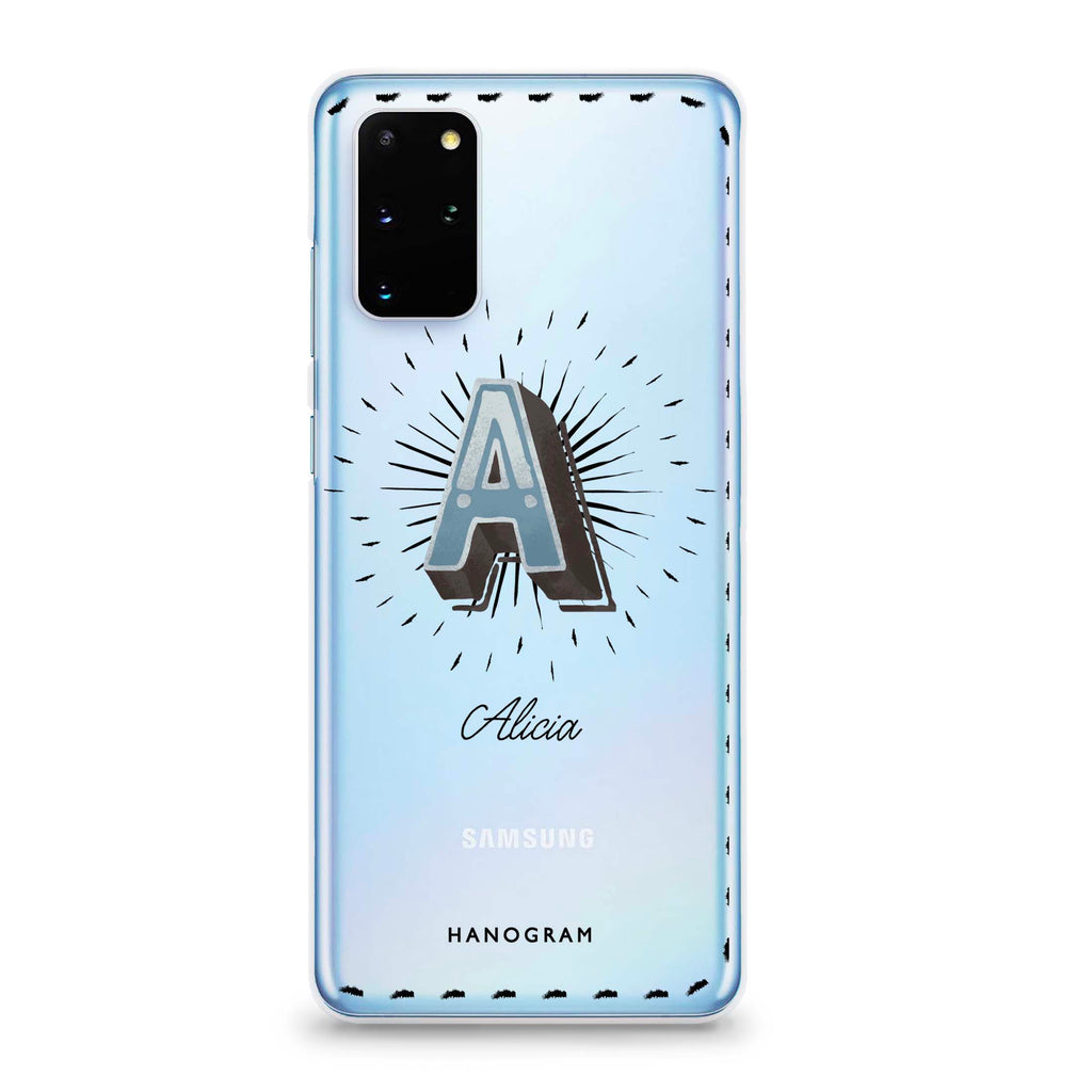 Artistic Monogram III Samsung S20 Plus Soft Clear Case