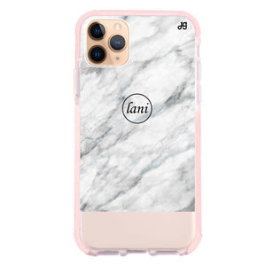 White Marble Transparent Frosted Bumper Case