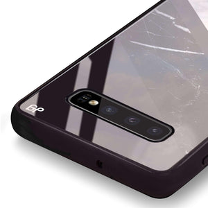 B & W Marble Samsung S10 Plus Glass Case