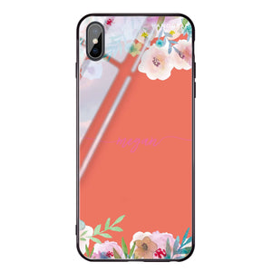 Art of Floral Living Coral Glass Case