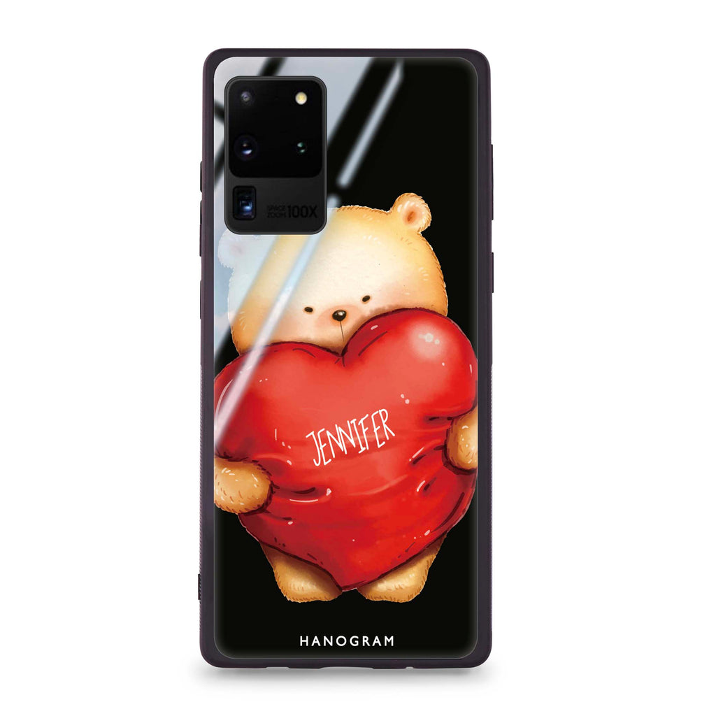 Bear Hug Samsung S20 Ultra Glass Case