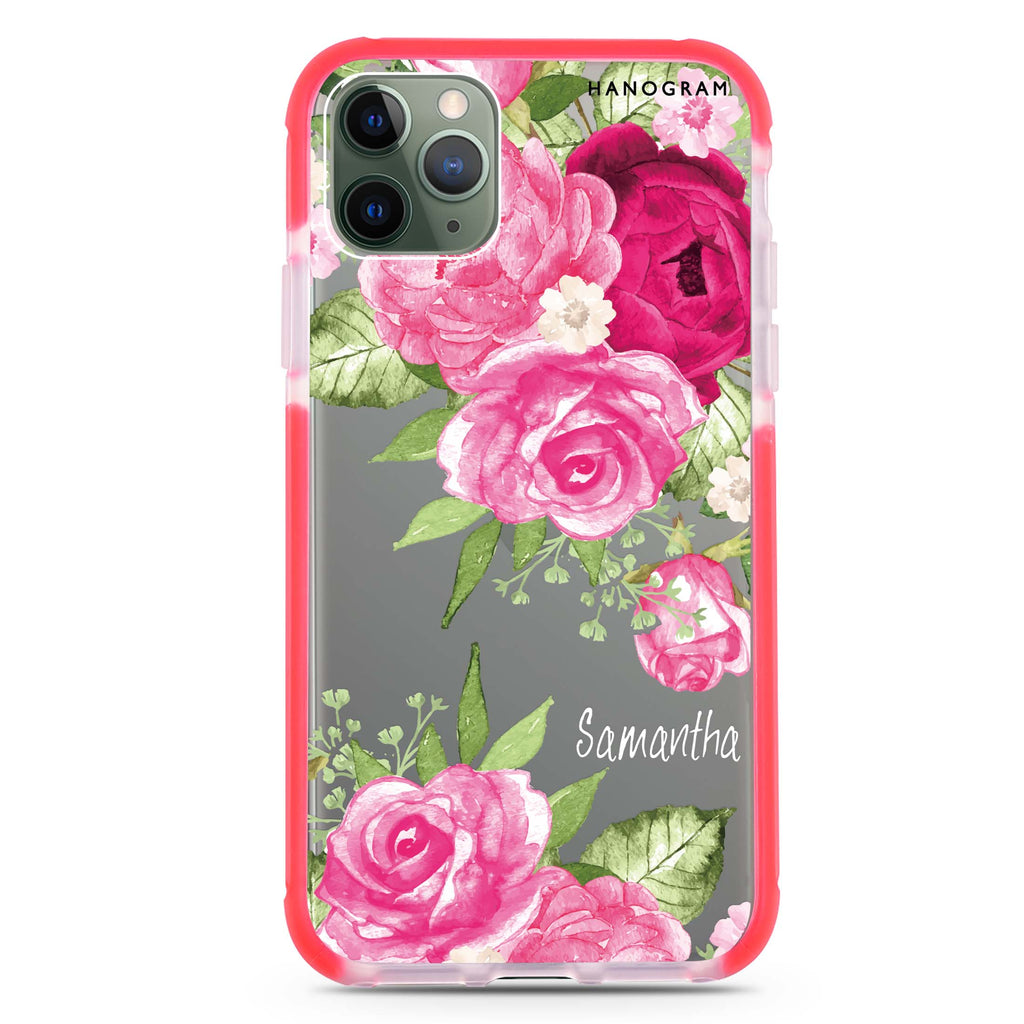 Watercolor Rose Shockproof Bumper Case