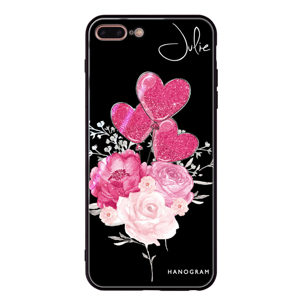 Sweet Heart With Rose iPhone 8 Plus Glass Case