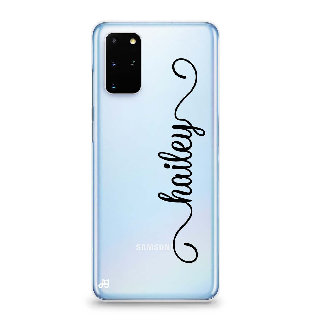 Vertical Cursive Handwritten Samsung S20 Soft Clear Case