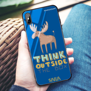 Think Outside Princess Blue Glass Case