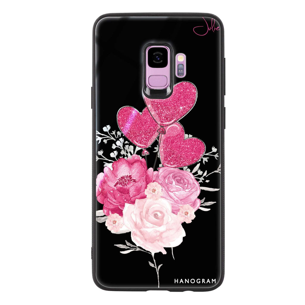 Sweet Heart With Rose Samsung S9 Glass Case
