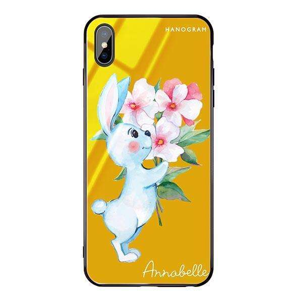 Rabbit And Flowers Mango Mojito Glass Case