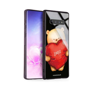 Bear Hug Samsung S10 Plus Glass Case