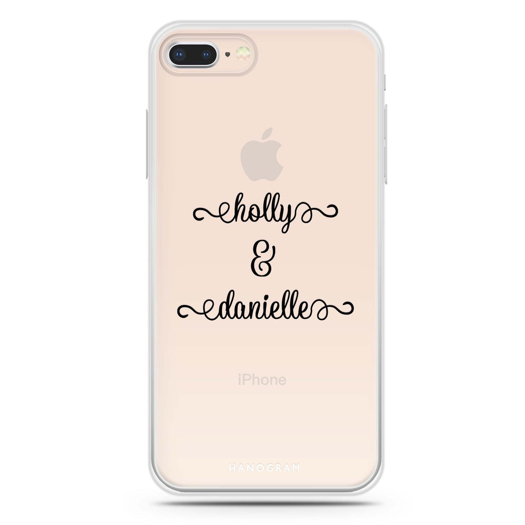 Our Cursive Handwritten iPhone 8 Soft Clear Case
