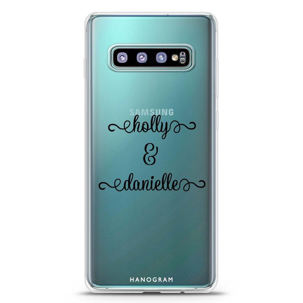 Our Cursive Handwritten Samsung S10 Plus Soft Clear Case